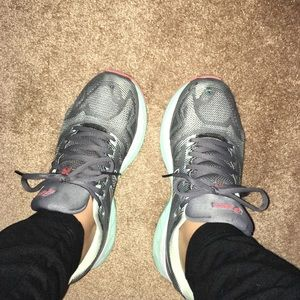 Used well worn stinky smelly women's gym shoes